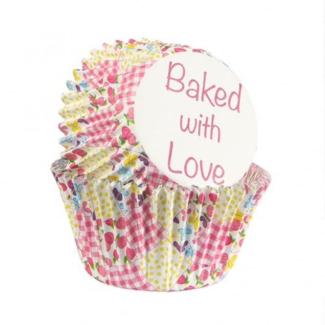 Culpitt Multi Patchwork - Foil Baking Cups x 25 - Baked With Love