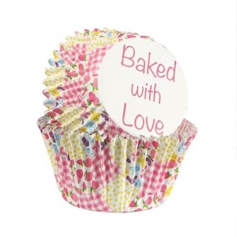 Multi Patchwork - Foil Baking Cups x 25 - Baked With Love