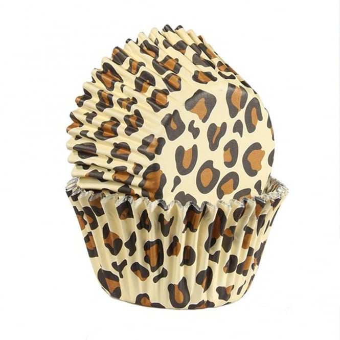 Culpitt Natural Leopard Print - Foil Baking Cups x 25 - Baked With Love