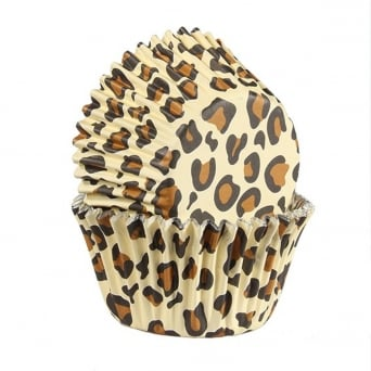 Natural Leopard Print - Foil Baking Cups x 25 - Baked With Love