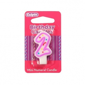 Mini Number 2 Party Candle By Culpitts