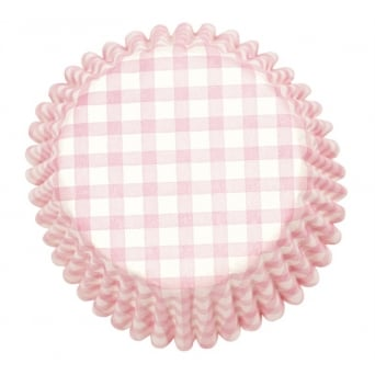 Pink - Gingham Baking Cases x 54 Cups