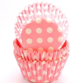 Pink Spot - Baking Cases x 54 Cups