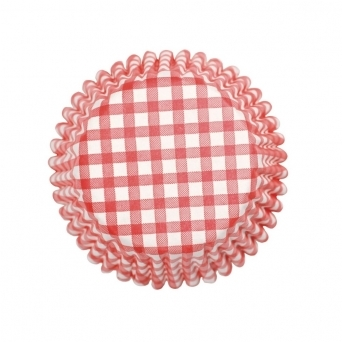 Red - Gingham Cupcake Cases x 54 Cups