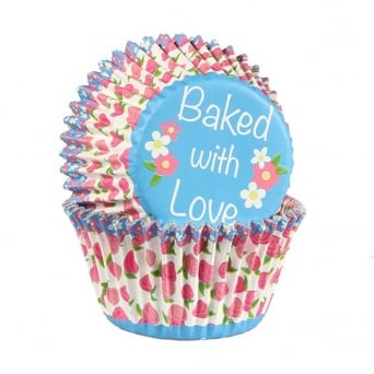 Rose Bud - Foil Baking Cups x 25 - Baked With Love