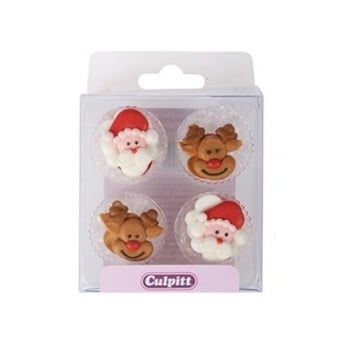 Cake Icing Accessories Uk : Christmas Edible Cake Decorations