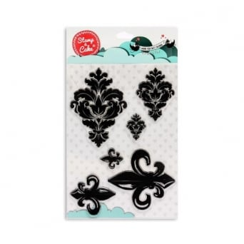 Damask And Fleur Stamp - Stamp-A-Cake