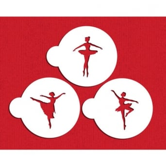 Ballerina Cookie Stencil Set