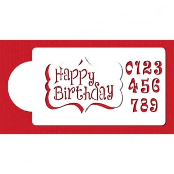 Happy Birthday Plaque Stencil