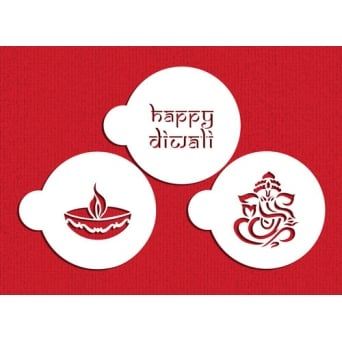 Happy Diwali Cookie Stencil Set