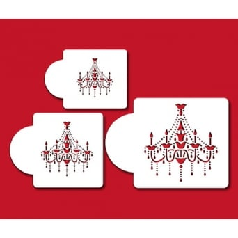 Chandelier Stencil Set Of 3 By Designer Stencils