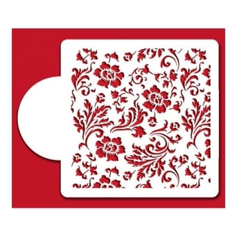 Chic Rose Mini Print Stencil By Designer Stencils
