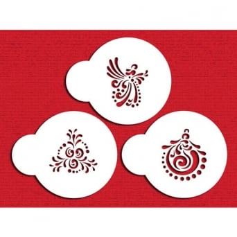 Christmas Cookie Set Of 3 Designer Stencils