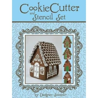 Gingerbread House And Cutter Set Designer Stencil