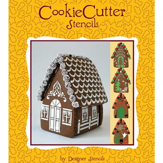 Designer Stencils Gingerbread House Stencil Pack Of 4 By