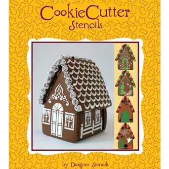 Gingerbread House Stencil Pack Of 4 By Designer Stencils