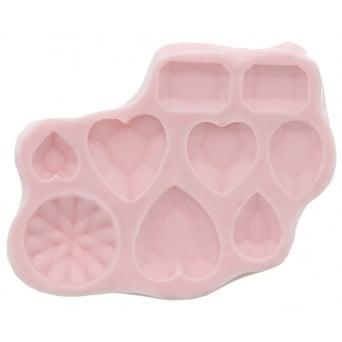 Diamonds And Hearts Mould By Sunflower Sugar Art