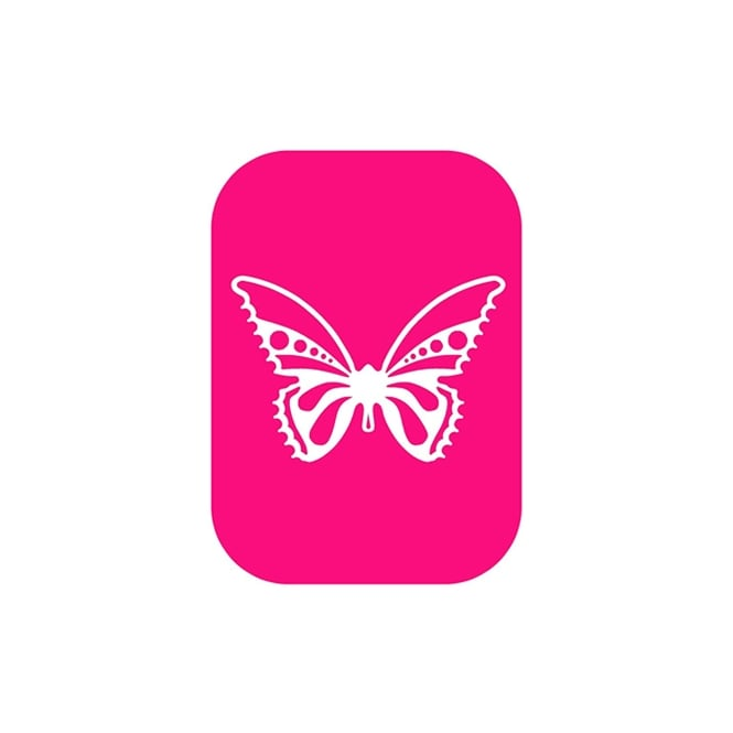Dinkydoodle Contemporary Small Butterfly 2 Part Airbrush Stencil