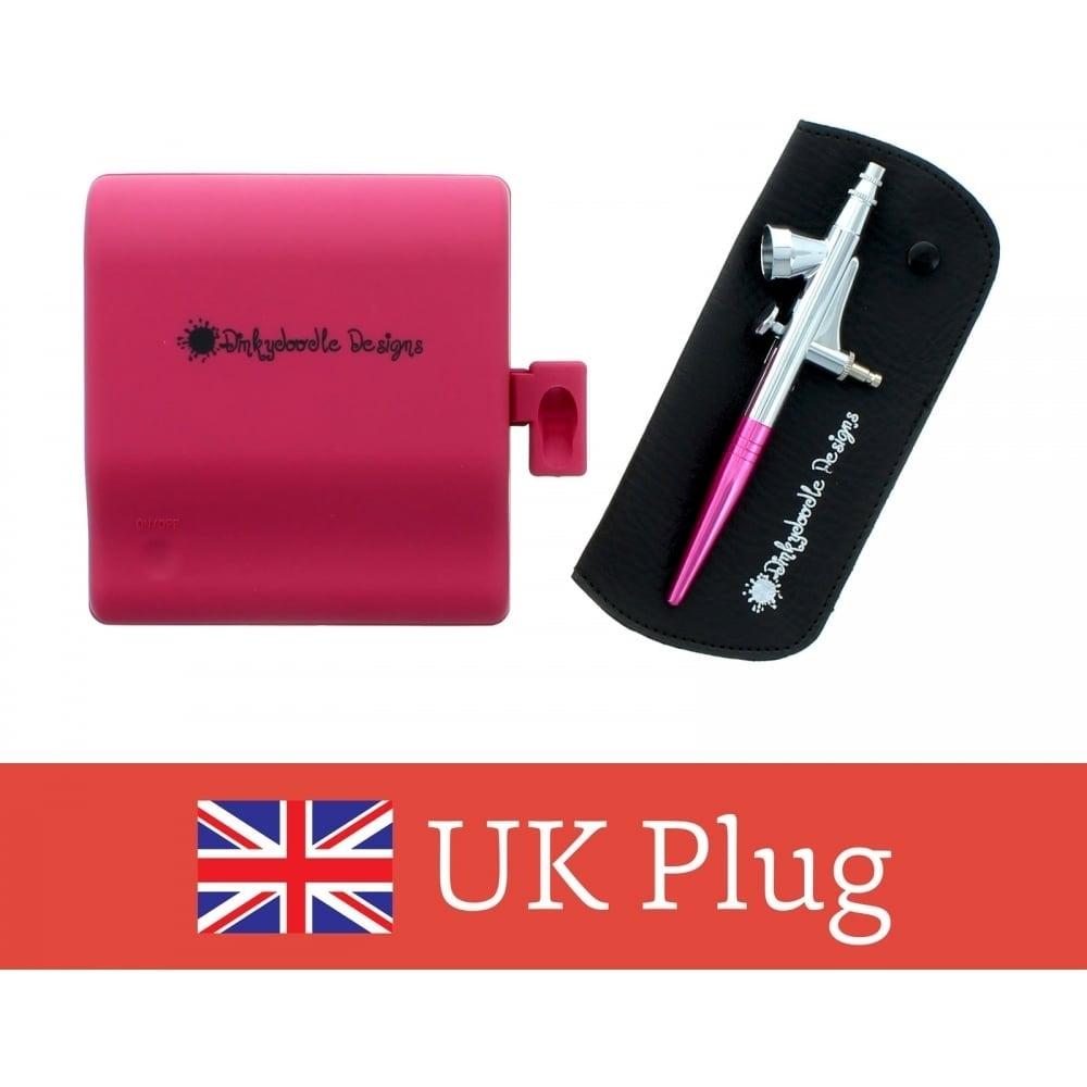 Dinkydoodle pink airbrush machine kit choose a plug tools pink airbrush machine kit choose a plug solutioingenieria Choice Image