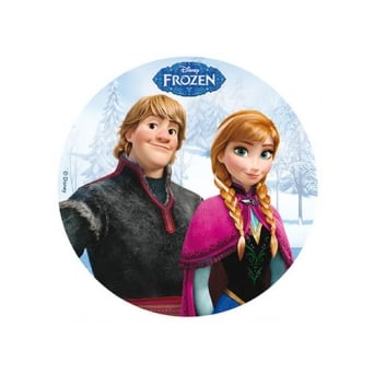 Frozen Edible Wafer Disc - Kristoff And Anna