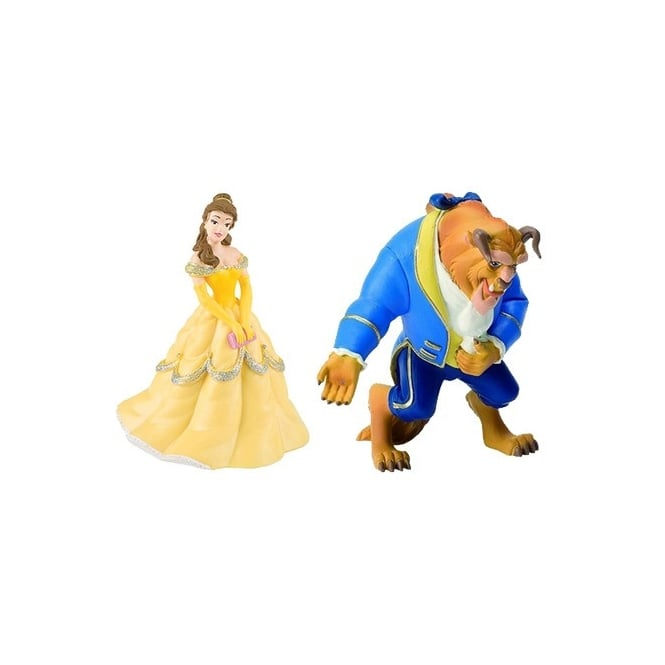 Disney Set Of 2 - Beauty And The Beast Cake Figures