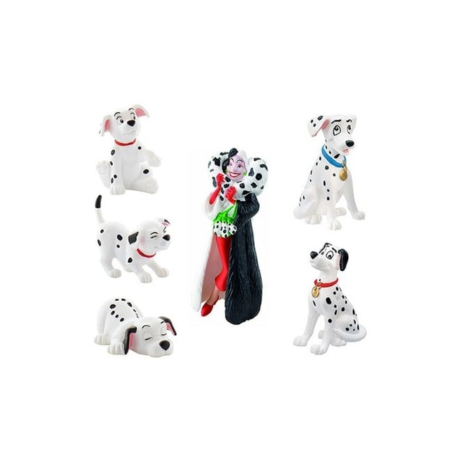 Disney Set Of 6 - 101 Dalmatians Cake Figures