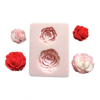 Duo Of Roses Mould 2 By Sunflower Sugar Art