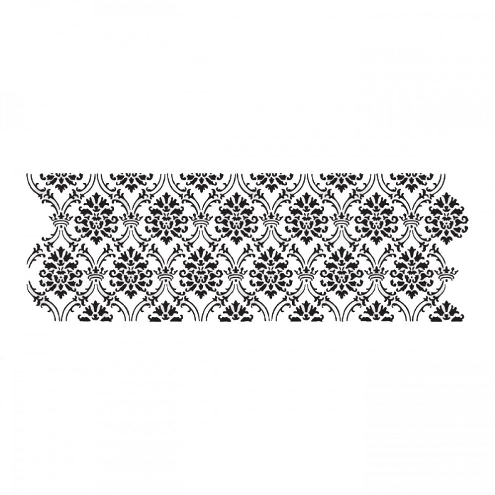 Cake Decorating Stencils Uk : Evil Cake Genius Alexandria Damask Acrylic Stencil - Tools ...