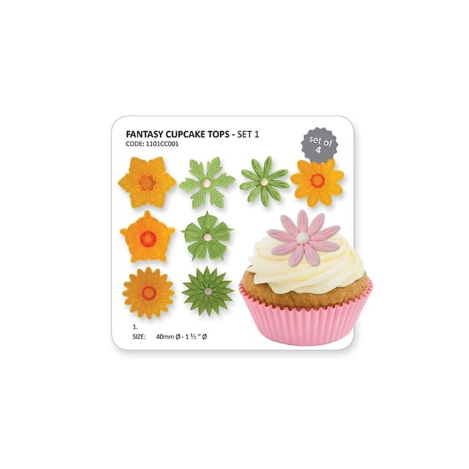 JEM Fantasy Cupcake Tops Set Of 4 Cutters By Cutters