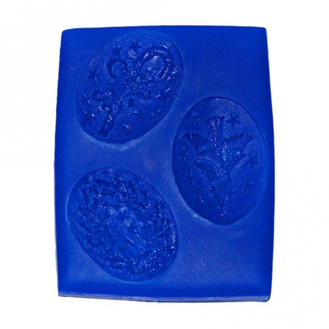 First Impression Moulds Christmas Cameo Set - Silicone Mould
