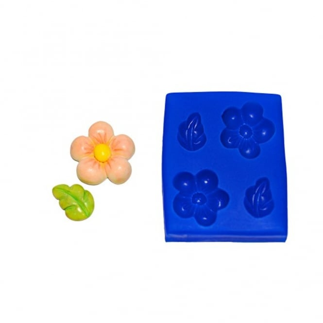 First Impression Moulds Flower And Leaf Set Large - Silicone Mould
