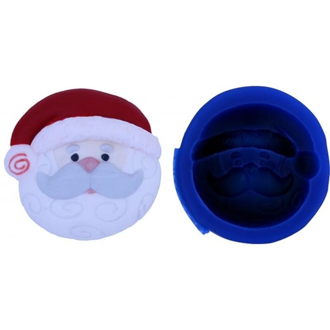 First Impression Moulds Mini Santa Cupcake Topper - Silicone Mould