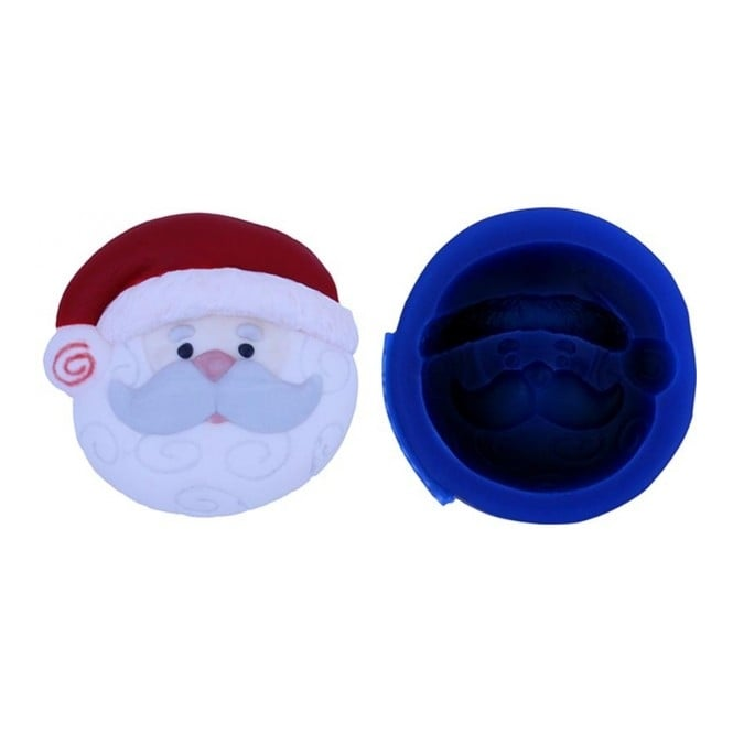 First Impression Moulds Santa Cupcake Topper - Silicone Mould