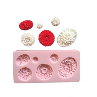 Floral Assortment Mould By Sunflower Sugar Art