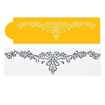 Floral Lace Swag Side Stencil By Designer Stencils