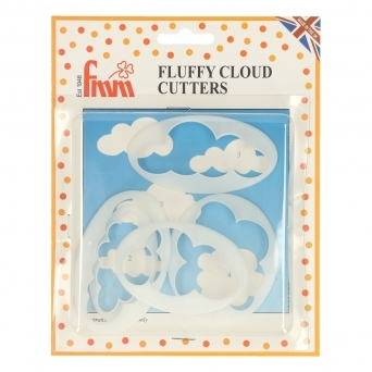 Fluffy Cloud Cutters Set Of 5