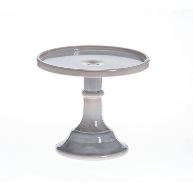 FMM Marble - 6 Inch Glazed Milk Glass Cake Stand