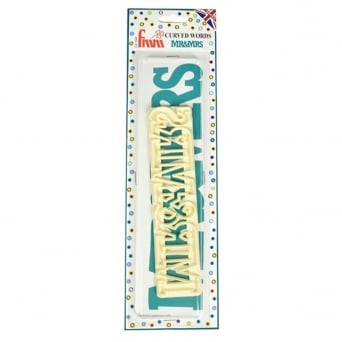 Mr And Mrs Curved Words Cutter