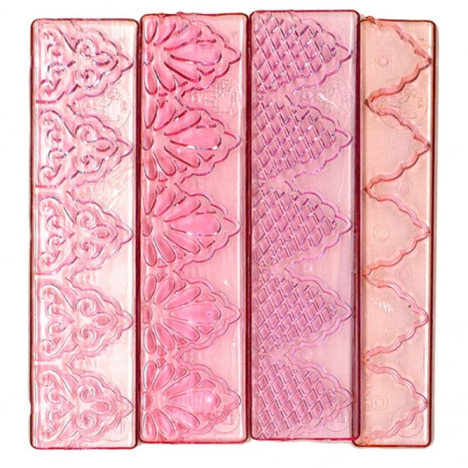 FMM Texture Lace 4 Piece Cutter Set 1