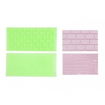 Tree Bark And Brick Wall Impression Mats Set 1