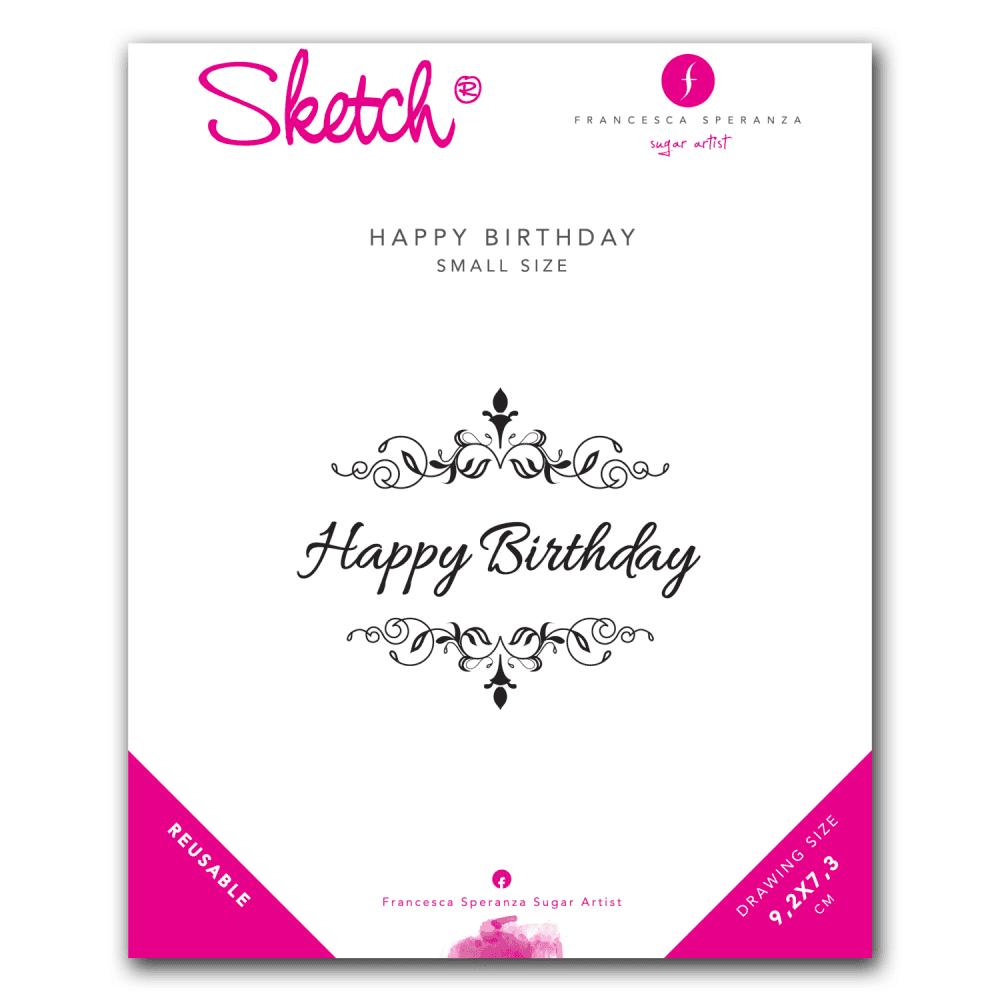 Francesca Speranza Happy Birthday Sketch Stencil