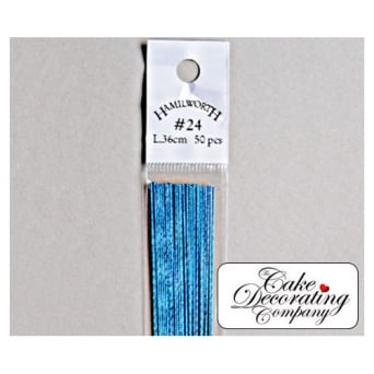 26 Gauge Metallic Blue Florist Wires