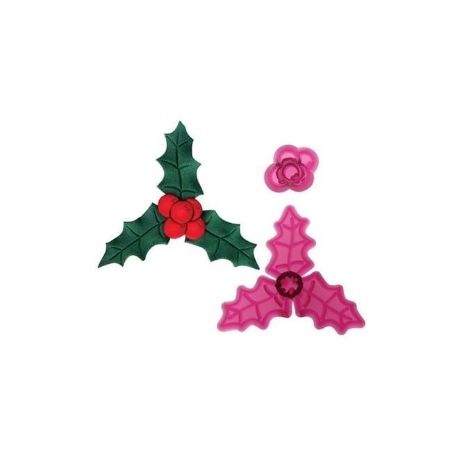 JEM Holly And Berries 2 Piece Cutter Set By Cutters