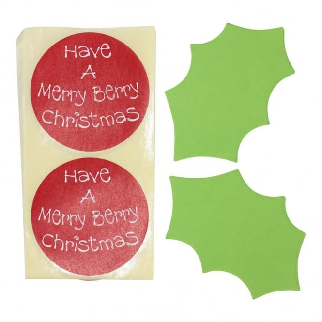 Holly Gift Tag And Festive Sticker Pack