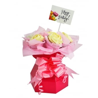 Hot Pink Cupcake Bouquet Box Kit