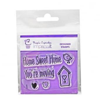 ImpressIt Home Sweet Home Stamp Set - Purple Cupcakes