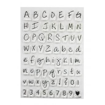 ImpressIt Large Alphabet And Numbers Stamp Set - Purple Cupcakes