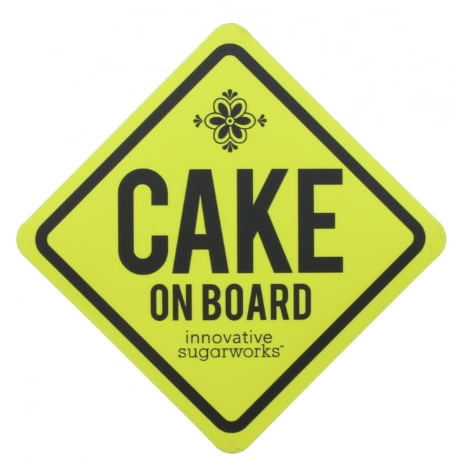 Innovative Sugarworks Cake On Board Magnetic Warning Sign