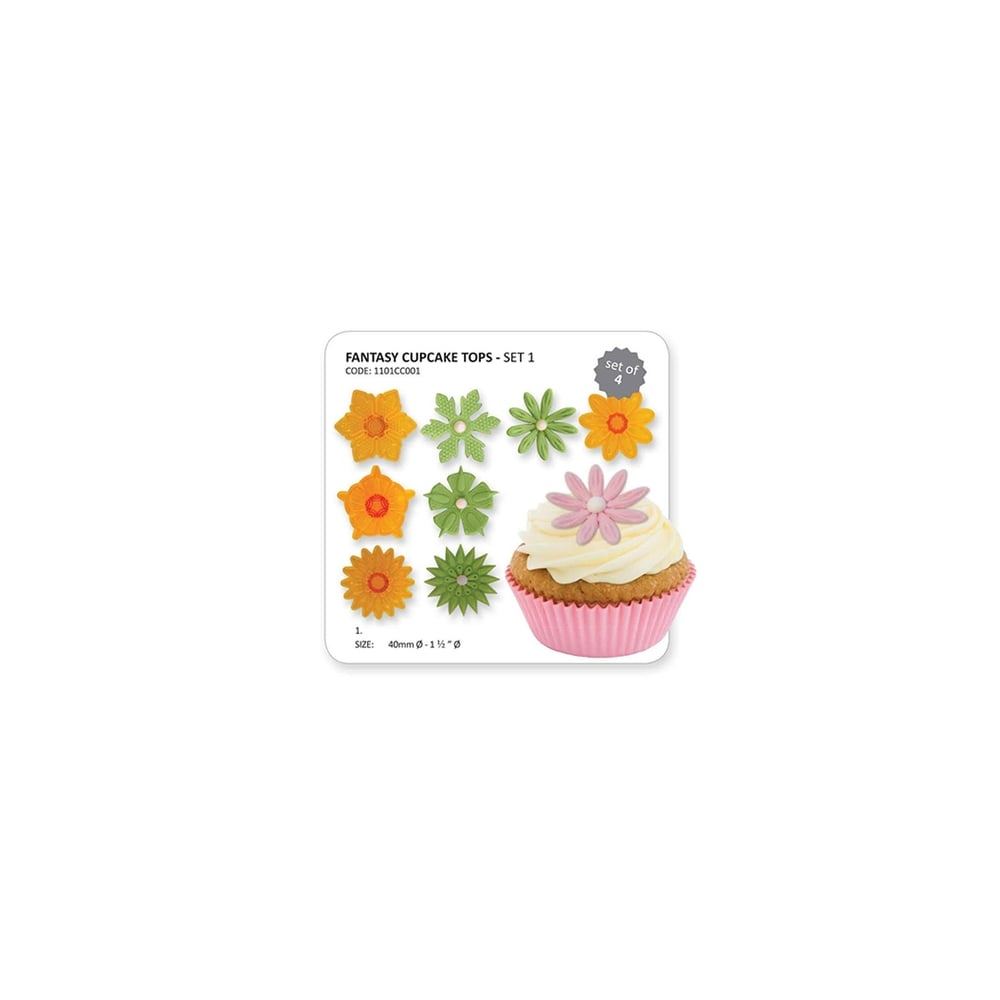 Super Jem Fantasy Cupcake Tops Set Of 4 Cutters Veiners Cutters From Funny Birthday Cards Online Alyptdamsfinfo