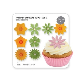 Fantasy Cupcake Tops Set Of 4 Cutters By JEM Cutters